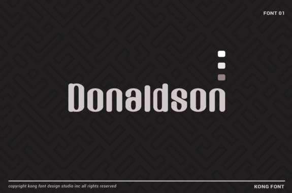 free Donaldson Display Font