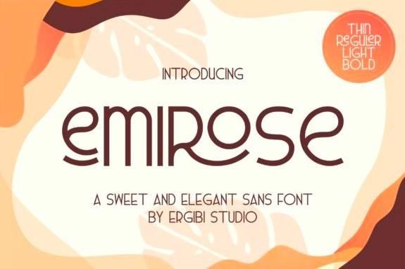 free Emirose Sans Serif Font