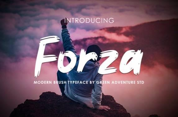 Forza Modern Brush Font