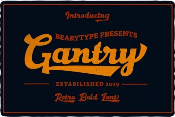 Gantry Retro Font