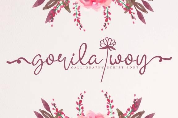 free Gorila Woy Calligraphy Font download