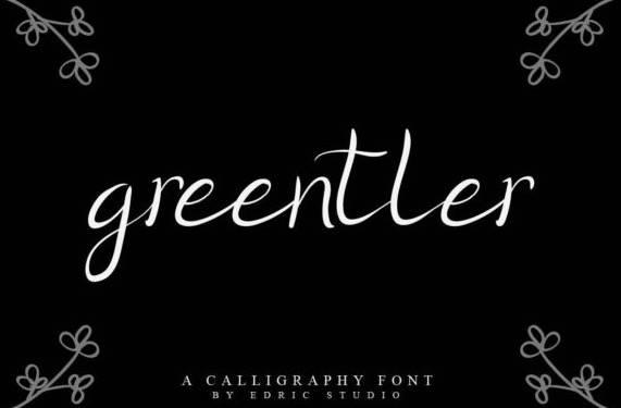 free Greentler Handwritten Font