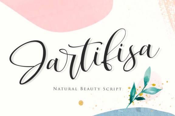 Jartafisa Calligraphy Font