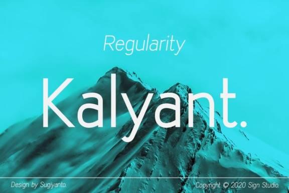free Kalyant Sans Serif Font