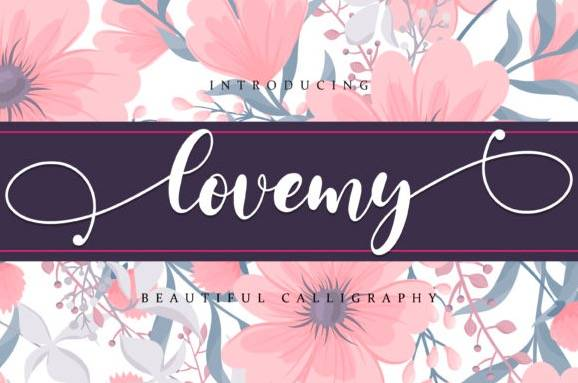 Lovemy Calligraphy Font