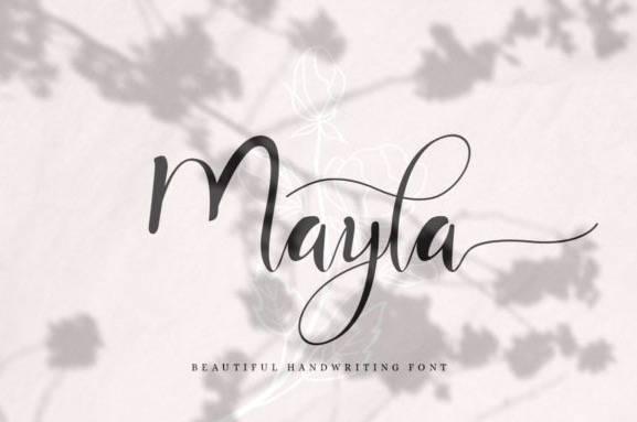 Mayla Calligraphy Font