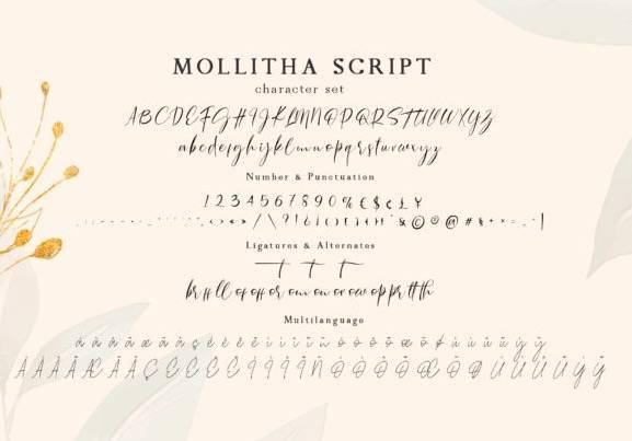 free Mollitha Calligraphy Font