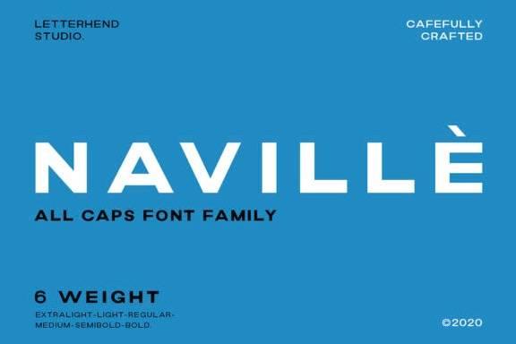 Navillè Sans Serif Font