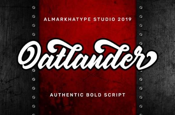 Oatlander Calligraphy Font