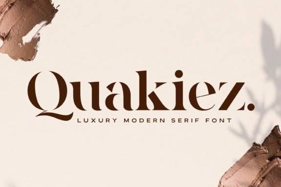 Quakiez Luxury Serif Font