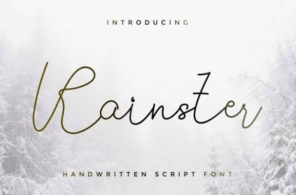 Rainster Monoline Font