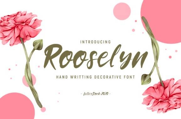 Rooselyn Brush Font