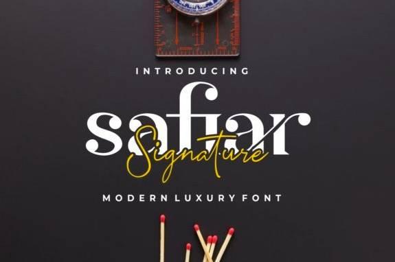 Safiar Bold Script Font