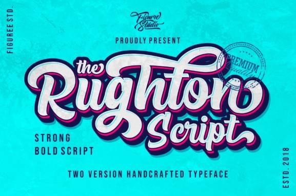The Rughton Script Font