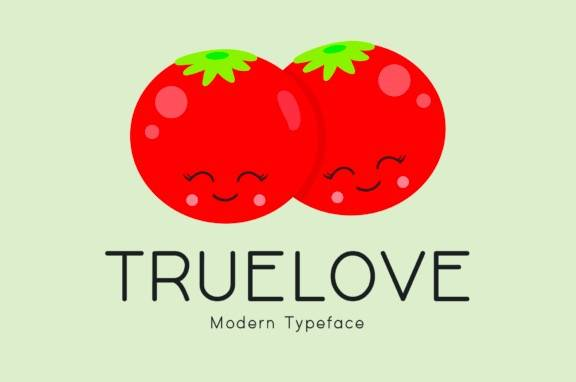 Truelove Display Font