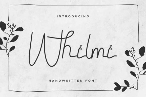 Whilmi Monoline Font