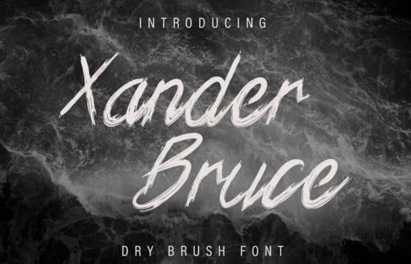 Xander Bruce Script Font