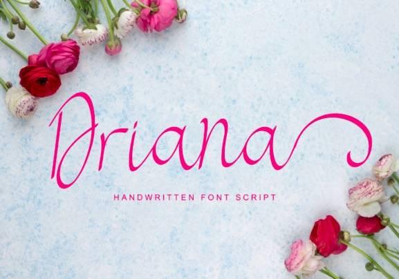 free download Driana Handwritten Font