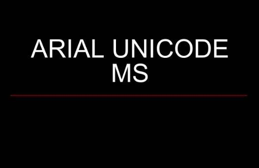 Arial Unicode MS Font Download free