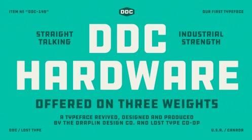 download DDC HARDWARE Sans Font free
