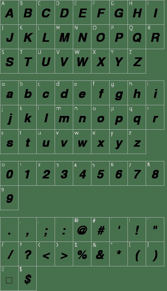 Helvetica Bold Oblique Font free