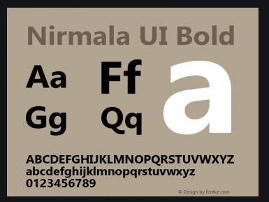 Nirmala UI Bold Font