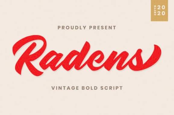 Radens Vintage Bold Script Font download