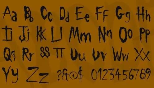 free Slipknot Font download