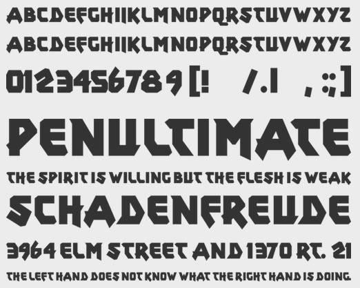 Xar Gothic font free download