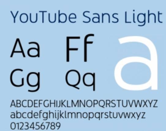 YouTube Sans Light Font