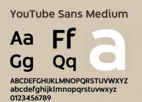 YouTube Sans Medium Font download