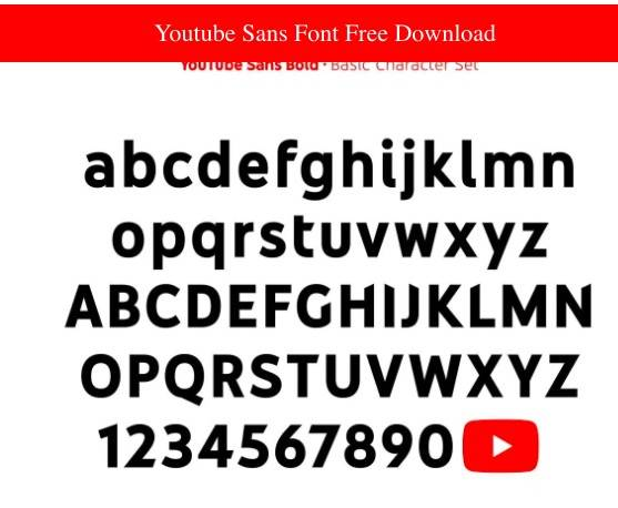 Youtube Sans Font Download free
