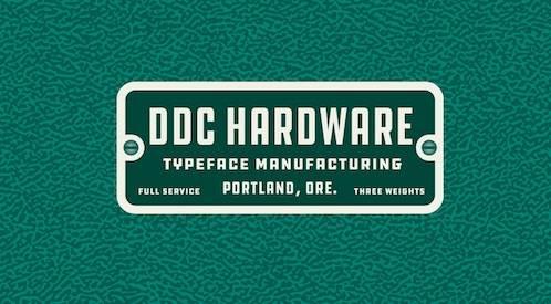 free DDC HARDWARE Sans Font download