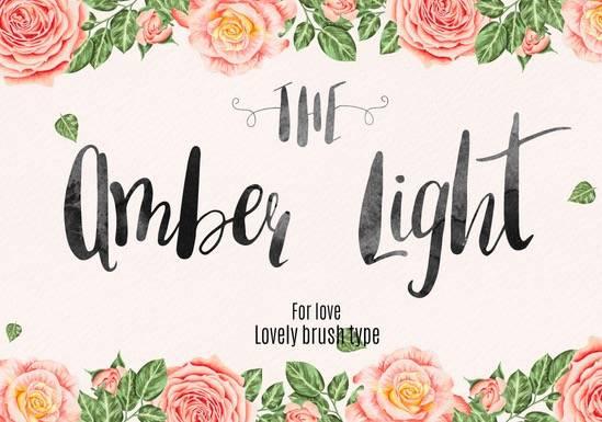 Amber Light Brush Script Font