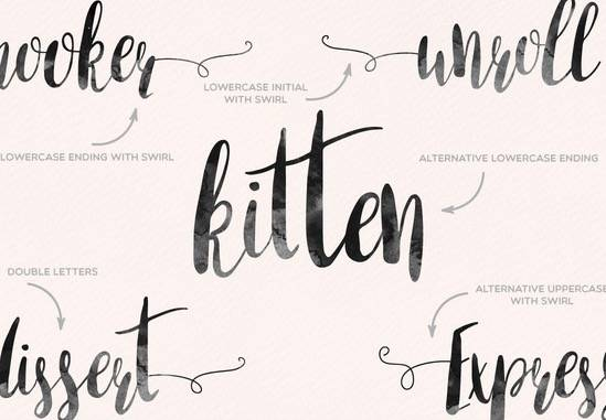 Amber Light Brush Font download
