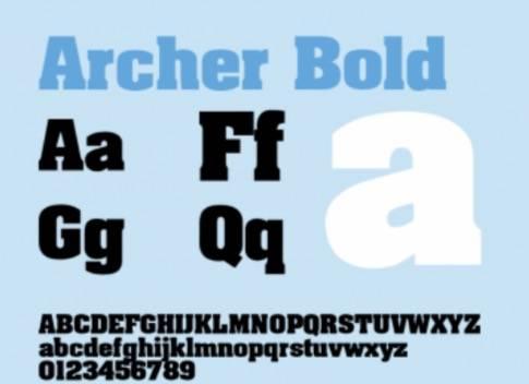 Archer Bold Font Free download