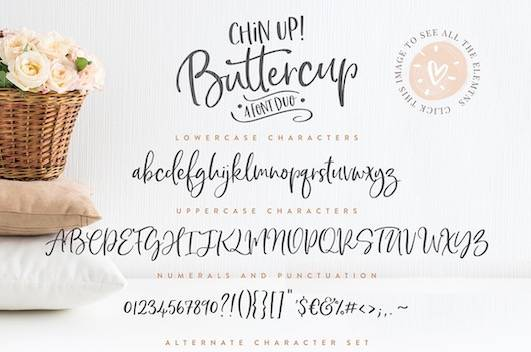 download Chin Up Buttercup Font