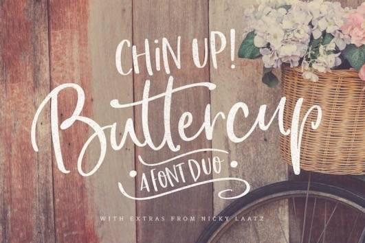 free Chin Up Buttercup Font