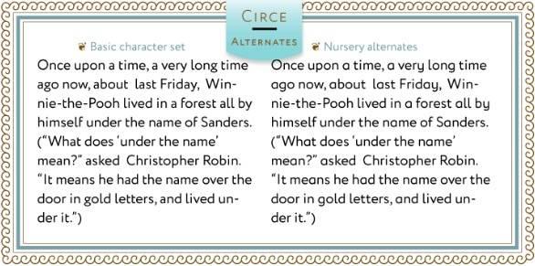 Circe Sans-Serif font