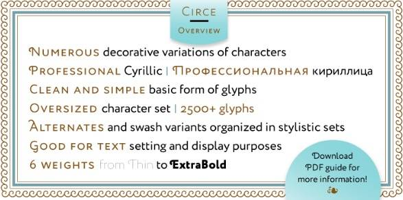 free Circe Sans-Serif font