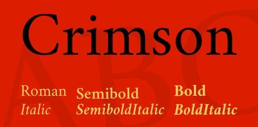 Crimson Font Family download