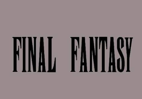 Final Fantasy Font download