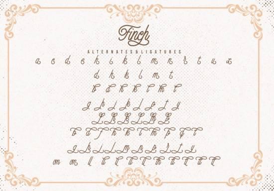 free Finch Monoline Font