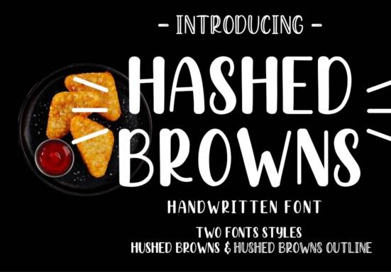 Hashed Browns font