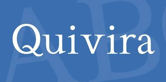 Quivira Font