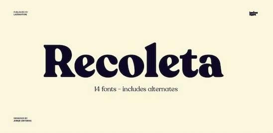 Recoleta Font download
