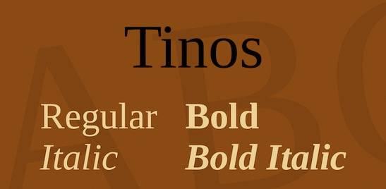 Tinos Serif Font Family