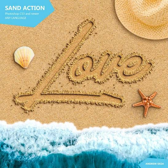 Writing in Sand Font