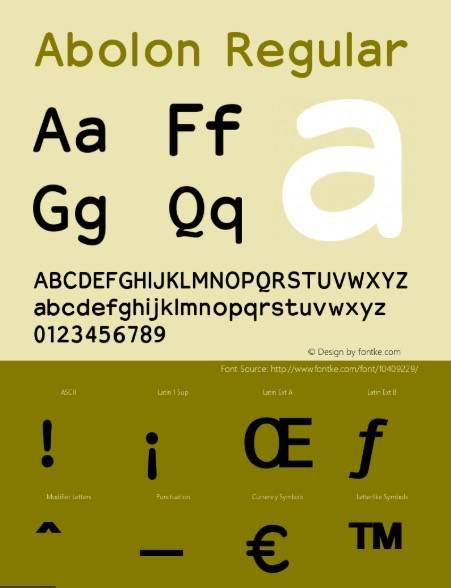 Abolon Font free