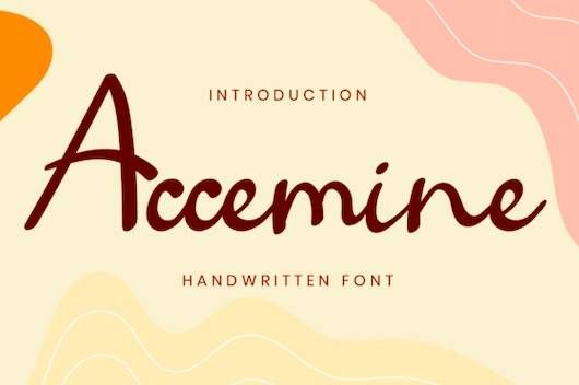 Accemine Font download
